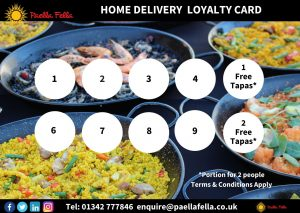 Paella and Tapas delivery near me